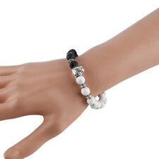 Cool Women Men's Natural Stone Elastic Alloy Leopard Beaded Bracelet Chain Gift