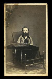 Rare 1860s CDV S. Hunter Smith with His Dulcimer