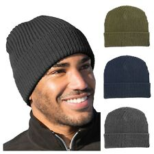 Mens Chunky HeaveyWeight Military Style Watch Cap Winter Hat Beanie