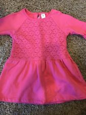 Youth Girls CARTER'S Pink Dress w/ Lace Overlay - Size 6