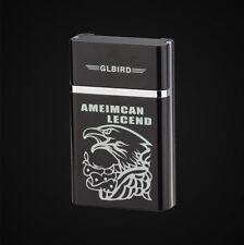 Fashion Utility Eagle USB Flameless Lighter Rechargeable 8x Cigarette Case Set