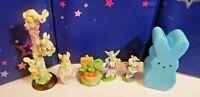 Easter bunny figurines Rabbit Yellow bunny house egg bunny house gazebo PEZ bank