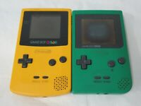 L414 Nintendo Gameboy Color console Yellow and Pocket Japan GBC JUNK for Parts