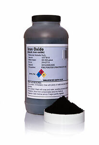 800g BLACK IRON OXIDE powder / magnetite / High grade / 99.8% purity / pouch