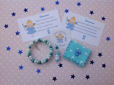 Dent bleues fée Kit-Bracelet, Fairy Dust, dent poche, autocollant poème et cartes
