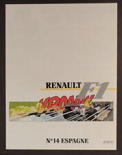 Graton Michel Vaillant pub Renault 14 Formule 1 Espagne Jerez 1989