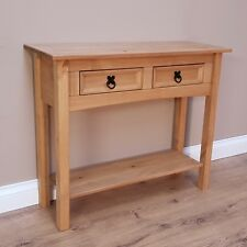 Corona 2 Drawer Console Table Mexican Solid Pine Hallway by Mercers Furniture®