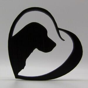 Labrador Dog in Heart Shape Home Ornament 15x15x1.5cm - Various Colours
