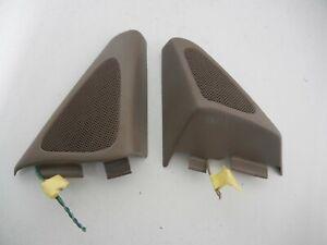 Buick LeSabre Left Right Pair Door mirror mount covers with speaker sienna beige