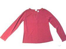Women Red Emma James Long Sleeve Knit Top sz L