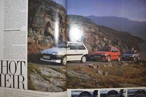 "Peugeot 106 XSi v Rover Metro GTi v Citroen AX GTi ""Autocar"" Road Test Magazine"