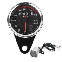 DC 12V Motorcycle Speedometer Gauge Instrument w/ LED Indicator Digital Display