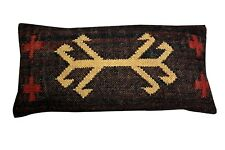 Vintage Kilim Pillow Case Hand Woven Jute Rug Cushion Cover Rustic Pillows cover