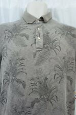 Tasso Elba Island Mens Casual Shirt Sz S Acord Brown Short Sleeve Polo Shirt