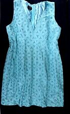 NICOLE MILLER SLEEVELESS LACE TEAL GREEN DRESS IN SIZE 14