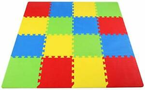BalanceFrom Kid's Puzzle Exercise Play Mat with EVA Foam Interlocking Tiles 4...