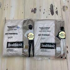 Healthknit - Vtg New White Long Underwear Thermal Waffle Shirt & Pants, Mens Xl