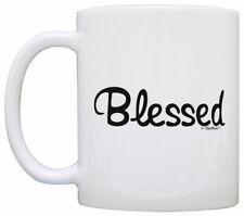 New listing Inspirational Coffee Mug Blessed Christian Word Mug Coffe Coffee Mug Tea Cup