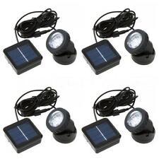 4x Outdoor Solar Panel LED Spotlight Garden Pool Waterproof Road Spot Light US