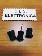 10 PEZZI SUPPORTI PORTA LED 10 mm IN PLASTICA NERA E ABS