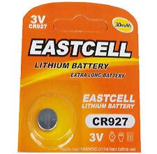 1 x CR927 3V Lithium Batterie 30 mAh ( 1 Blistercard a 1 Batterie  EASTCELL