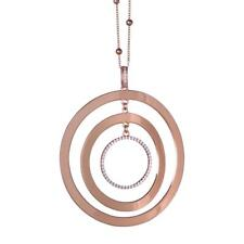 COLLANA BOCCADAMO Magic Circle, da Donna, bronzo rosato e zirconi ref. XGR252RS