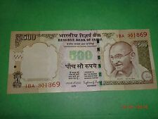 INDIA PAPER MONEY-1 'MG' NOTE-RS. 500/-'2015'-TELESCOPIC N0s.W/O BRAIL.LINES#EAD