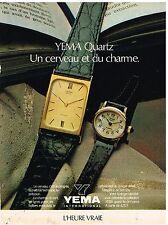 Publicité Advertising 1980 Les Montres Yema Quartz
