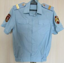 Genuine Russian Police Rosgvardiya Shirt Blue Uniform Size Medium Patches Rare