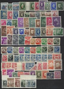 Slowakei 95 verschiedene postfrische Marken aus 1939-1945