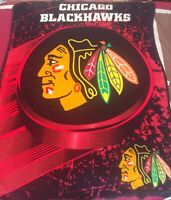 "NHL Chicago Blackhawks Northwest Fleece Blanket Throw 58"" x 48"" Double Sided"