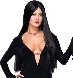 Famille Addams Dlx Morticia Silky-Soft Importé Fibre Shampooing Lavable Femmes