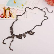 Punk Dinosaur Skeleton Skull BONE Tyrannosaurus T-Rex Necklace Chain Alloy GS