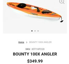 Pelican 10 ft Bounty 100X Angler Fishing Kayak Local Pick Up Only