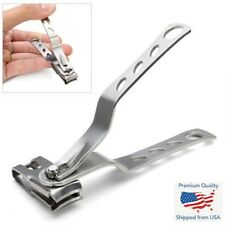 Stainless Steel Finger Nail Toe Long Handle Clippers Trimmer Cutter Swivel Head