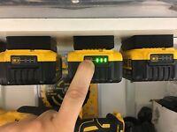 15x Black DeWALT XR BATTERY MOUNTS great for Tough System Shelves Racks Case Van
