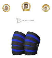 Knee Wraps Pair With Straps for Squats, Weightlifting, Powerlifting, Leg Press