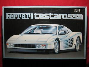 BIG 1987 Ferrari Testarossa 1:16 Scale Fujimi Plastic Kit Vintage Rare White