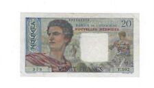 Rare Vf New Hebrides 20 Francs 1941 - 1945 P-8a S/N 002543378