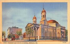 Maryland postcard Baltimore Cathedral and Y.M.C.A. Building