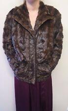 Vintage Genuine Dark Brown European Mink Fur coat Jacket M UK 12/14 Euro 40-42
