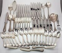 Christofle Silverplate Flatware Set in Marly Pattern 119 Pieces Gorgeous!