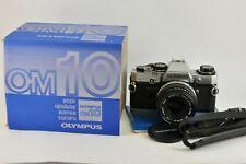 Olympus OM10 35mm film camera + Zuiko Auto-s 50mm f1.8 lens boxed