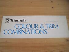 TRIUMPH COLOUR & TRIM COMBINATIONS BROCHURE 1974/75 STAG-SPITFIRE-TR6 ETC