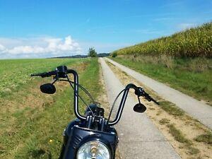 """Motorrad Lenker Ape 1 1/4"""" matt schwarz 40cm"""