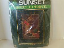 Sunset Needlepoint Kit Father's Day Decoy Mallard Duck Flowers Hallmark Design