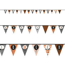 14ft Happy Halloween Party Spooky Pattern Paper Pennant Flag Banner Decoration
