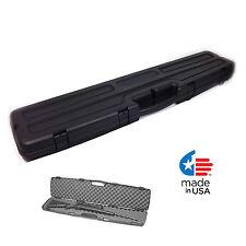 Rifles Gun Hard Case Hunting Locking Padded Carrying Bag Storage Firearms Scope
