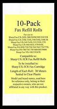10-pk UX-3CR Fax Refill Rolls for Sharp UX-330L UX-335L UX-340 UX-340L UX-340LM