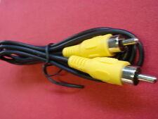 3x MONO CINCH KABEL für VIDEO oder AUDIO gelbe STECKER! D=3mm KAB. 1,5m    23722